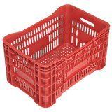 Caixas Plásticas Vazadas – Cor Vermelha