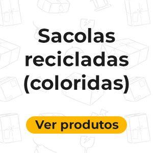 Sacolas Recicladas Coloridas
